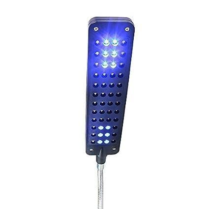 Glighone Luz de Acuario Lámpara de Acuarios y Peceras LED 3W Lámpara para Plantas y Estanques Sumergible con Soportes Extensibles por 36 en Blanco 12 en ...
