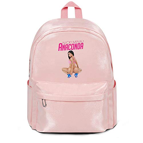 Womens Girl Boys Bag Purse Casual Nylon Water Resistant Travel Daypack Backpack Nicki-minaj-and-lil-kim- Bag Pink