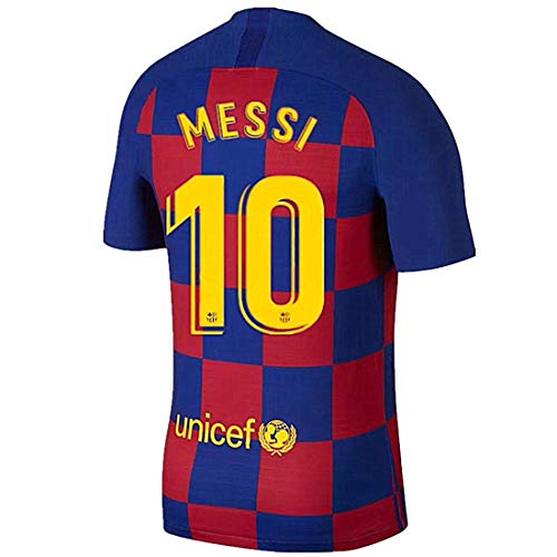 Tbcnjersey #10 Messi Men Shirt Barcelona Home Soccer T Shirt Red/Blue