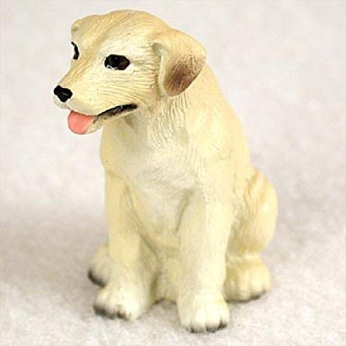 Labrador Retriever Miniature Dog Figurine - Yellow