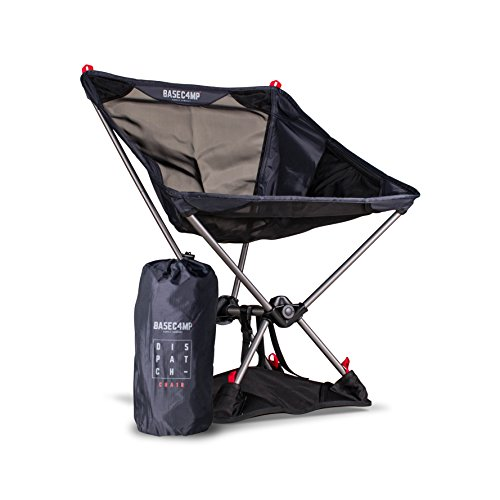 Ultra Lightweight Portable Folding Chair for Camping, Backpacking, Hiking, Beach, Sidelines, or Tailgates - Includes Bonus Travel Bag and Base Attachment for Extra Strength & Support - Max Load ()