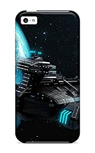 Ideal CaseyKBrown Case Cover For Iphone 5c(stratospheric Transport Ship In C&c 4), Protective Stylish Case