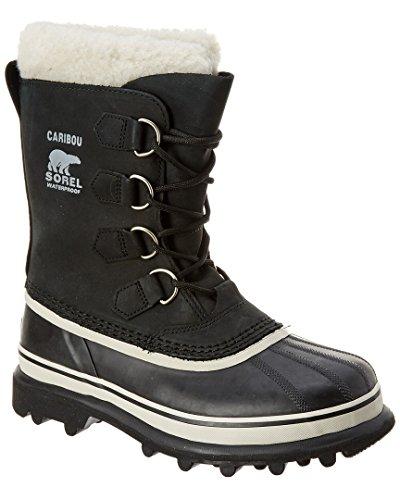 Sorel Women's Caribou NL1005 Boot,Black/Stone,8 M by SOREL