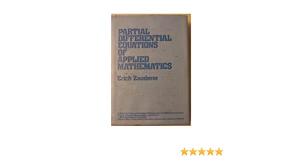 Of partial applied equations zauderer differential download mathematics