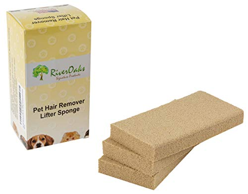 Pet Hair Remover Lifter Sponge - (3-Pack) Removes Cat Dog Hair from Bedding, Furniture Carpet (Gonzo Sponges)