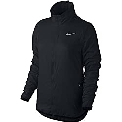 Nike Golf Women's Flight Convertible Jacket (Black/Metallic Silver) S