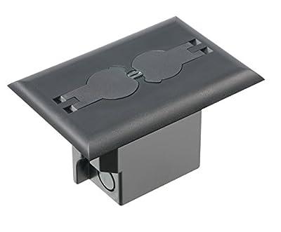 Arlington Industries Retrofit Electrical Floor Box with Flip Lids for Existing Floors