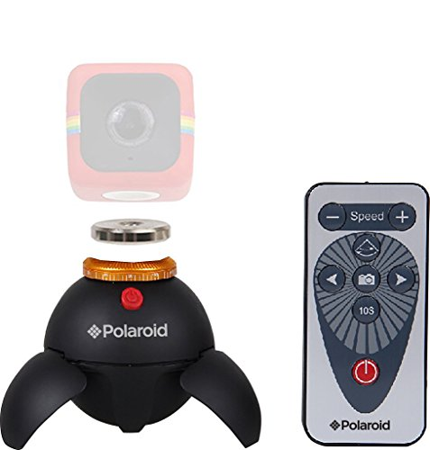 Polaroid Remote Controlled Panorama EyeBall Head + Polaroid Magnet to Tripod Adapter Mount For Polaroid Cube Action Camera - Mount Your Cube To The Ball Head (Panorama Adapter)