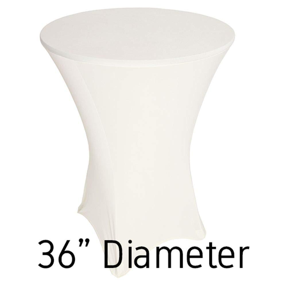 スパンデックスhi-boyテーブルカバー – カクテルテーブル 36 Inch EDD-SPX-HI36-IVY 36 Inch アイボリー B01NGYYA3R
