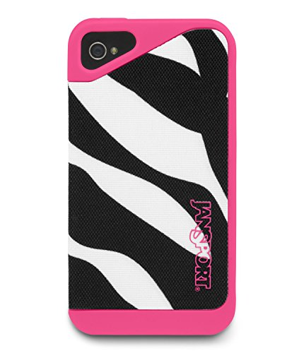 Slipcase Unisexe Pour iPhone 4 Noir / Blanc / Fluorescent Rose Mlle Zebra Cellphone Case
