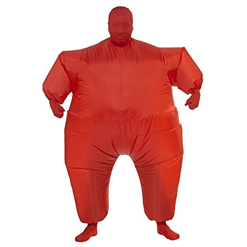 SurpCos Inflatable Costume Full Body Jumpsuit Cosplay Funny Blow Up Party Adult Clothing (Full Body Minion Costume)