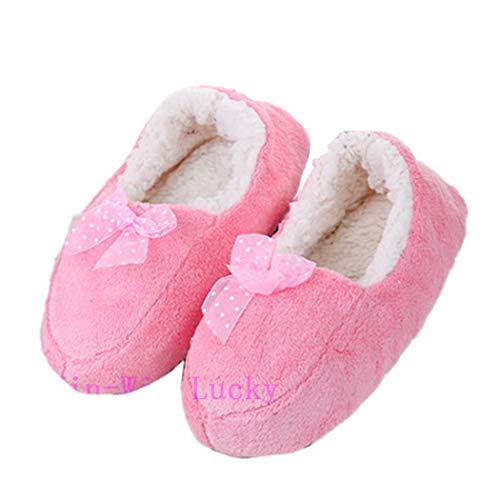 Pantoufles Bottes Peluche Chaussures Rembourrées Rose Clair En Donad Pour D'intérieur D'hiver Femmes Cachemire apqqC
