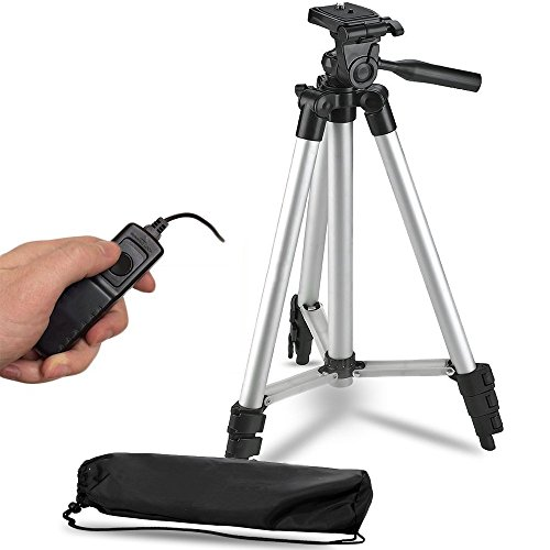 50-Inch-Lightweight-Aluminum-Camera-Tripod-Remote-Shutter-Release-for-Canon-T6i-T6-T6s-T5i-T5-T4i-T3i-T2i-T1i-and-4-inch-mini-tripod-Included-4-Piece-Set