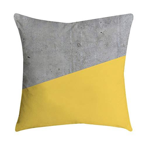 UROSA Pineapple Leaf Pillow Case Sofa Car Waist Throw Yellow Cushion Cover Home Decor 45X45cm -