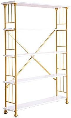 L.BAN Estantería De Escalera Estantería Metálica para Baño Salón Terraza con 5 Niveles, Estantería con 5 Escalera Esquina Estante De Almacenamianto De Madera: Amazon.es: Deportes y aire libre
