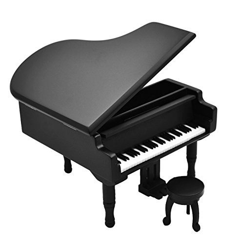 Piano Music Box - Piano Model Music Box for Music lover Christmas gift (Black-Piano)