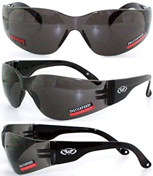Global Vision Rider Shatterproof UV400 Motorcycle Sunglasses//Biker Wraparound Glasses Complete with MicroFibre Storage Pouch Brown//Copper Tinted UV400 Lens - Category 3