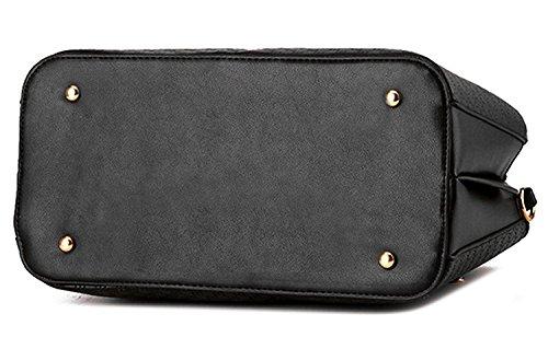 Vincico - Bolso mochila  de Material Sintético para mujer negro negro rosa roja