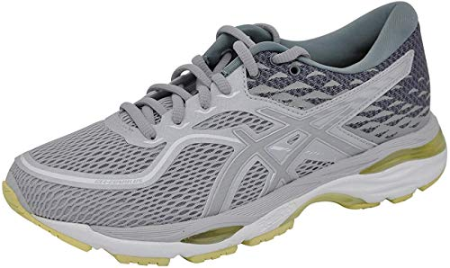 ASICS Women's Gel-Cumulus 19 Running Shoe, Grey/Silver/Lime, 8 M US