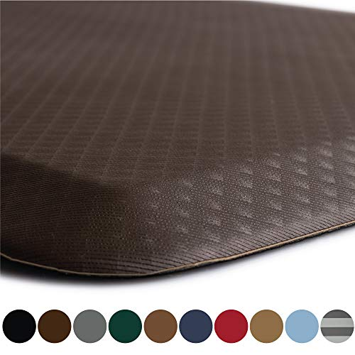 Kangaroo Original Standing Mat Kitchen Rug, Anti Fatigue Comfort Flooring, Phthalate Free, Commercial Grade Pads, Waterproof, Ergonomic Floor Pad for Office Stand Up Desk, 32x20, Brown