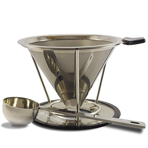 Pour Over Coffee Maker - Drip Coffee Maker - Clever Coffee Dripper - Stainless Steel Reusable Drip Coffee Filter for Coffee Cup
