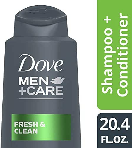 Dove Men+Care  Fresh and Clean 2 in 1 Shampoo and Conditioner, 20.4 oz