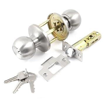 Baño con llave redonda botón de bloqueo Cerradura de 35 mm-60 mm Espesor de