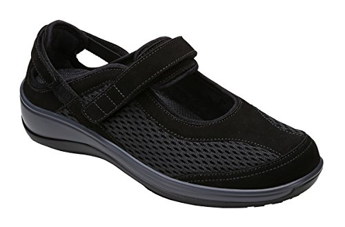 Womens Shoe Size - Orthofeet Sanibel Proven Pain Relief Comfortable Orthopedic Diabetic Womens Mary Jane Shoes for Flat Feet Black