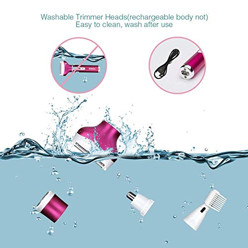 4 In 1 Women's Electric Shaver Epilator, Waterproof Ladies Electric Razor Trimmer