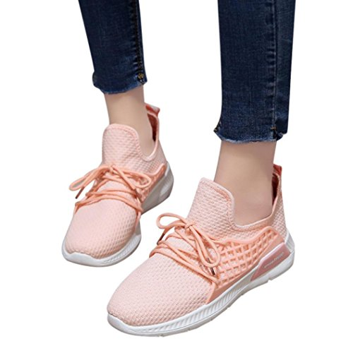 TriatlóN Libre Naturazy Rosado EláStica SóLido Correr ❤ Aire Zapatillas Running Deportes Zapatos De Cruz Casuales Tela para Gimnasia Zapatos Mujer Y Graceful Atada Mujer Mujer para Color para Zapatos w0TqRf6Rp