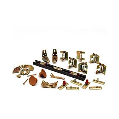 L E Johnson 1700726H Bypass Door Hardware Set, 1-1/8 to 1-3/8-In., 6-Ft.