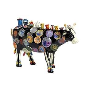 """CowParade 46368Vaca Figura """"El moo Potter mediano"""