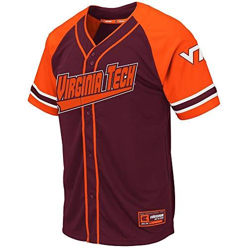 (Colosseum Mens Virginia Tech Hokies Wallis Baseball Jersey - L)