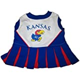 Pets First Kansas University Dog Cheerleader Outfit, X-Small, My Pet Supplies