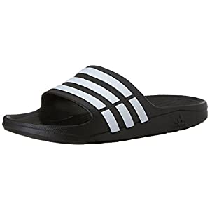 adidas Duramo Slide Sandal,Black/White/Black,9 M US