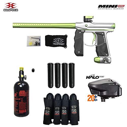 - Empire Mini GS Advanced Paintball Gun Package - Dust Silver/Green