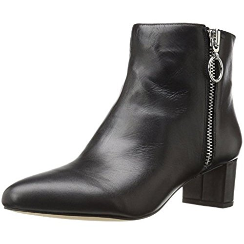 Nine West Women's Krimp Leather Boot, Black, 6.5 M US