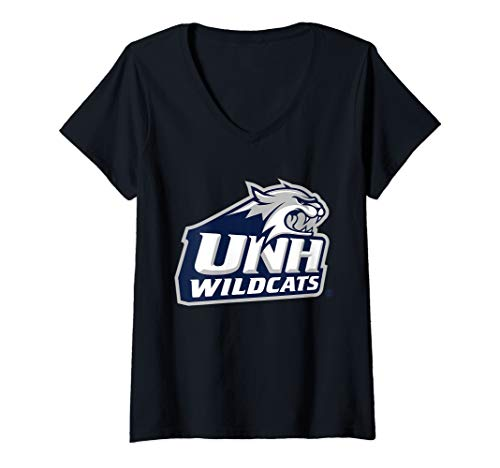 Womens University of New Hampshire UNH Wildcats NCAA PPNHM02 V-Neck T-Shirt (Merchandise New Of University Hampshire)