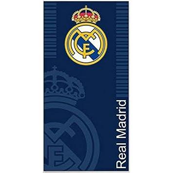 Serviette De Plage Tres Grande.Real Madrid Tres Grande Serviette De Bain Marine 170cm