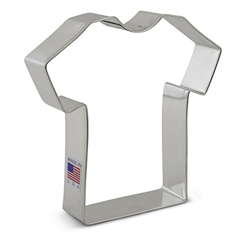 Ann Clark Large T Shirt / Sports Jersey / Medical Scrub Cookie Cutter - 4.4 Inches - Tin Plated Steel ()