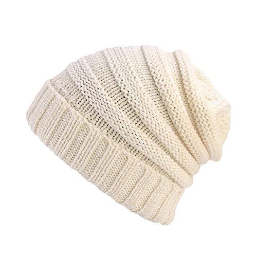 (2018 Women Beanie Hat,Ladies Retro Winter Knitting Turban Brim Pile Cap by-NEWOENSUN)