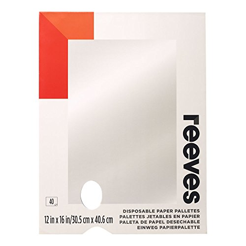 Reeves Disposable Paper Paint Palette, 12