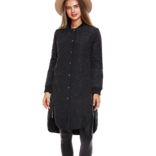 Embossed Pocket Jeans (Women Winter Long Coat,Todaies Women Casual Thicker Winter Warm Long Coat Pocket Embossed Coat Outwear (M, Black))