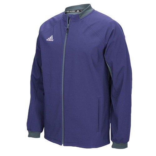 adidas Mens Climawarm Fielders Choice Full-Zip Warm Jacket Purple/Grey Xs