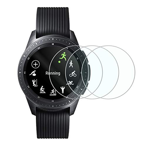 Tempered Glass Screen Protector for New Samsung Galaxy Smart Watch 2018,Anti-Scratch Bubble Free Accessories Protector for Samsung Galaxy 42mm - 3 Packs