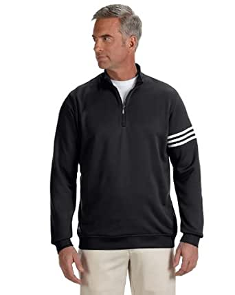 adidas Mens ClimaLite® French Terry Pullover-A190-SM-Black-White