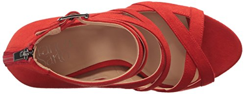 Sarto L Heeled Quincey Women Franco Red Sandal 7qwdExxIv