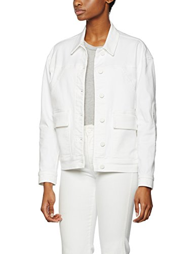 Filippa K Oversized Denim Jacket, Chaqueta para Mujer White (White Deni)