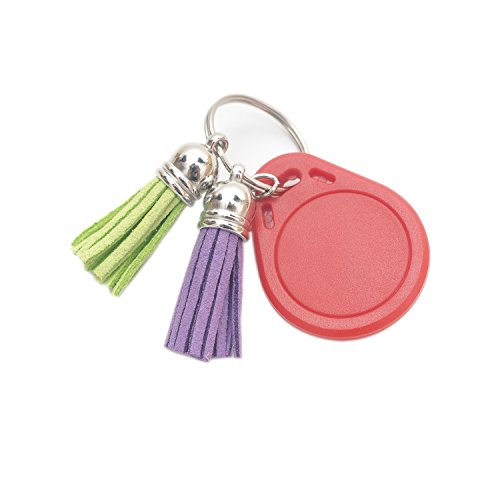 Vfond 100 Pieces 40 mm Leather Suede Tassel with Caps and 20 Pieces Keyrings with 4 Link Chain for Jewelry Making Findings, Cellphone Straps and DIY Accessories