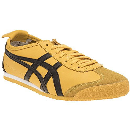 Onitsuka Tiger Mexico 66, Unisex-Adults' Low-Top Trainers, Yellow (Yellow/Black 490), 11 UK